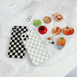 For Iphone 11 12 Xrvegetables Fruits Cookie Holder Lattice Art Phone Case Cover