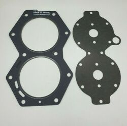 Water Jacket Cover And Cylinder Head Gasket Johnson Evinrude Outboard V4 85-140 Hp