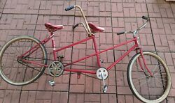 Antique Huffy Tandem Bicycle Daisy Vgc W Original Firestone Town And Country Tires