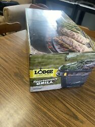 Lodge Cast Iron Sportsmanandrsquos Grill Brand New Open Box Never Used