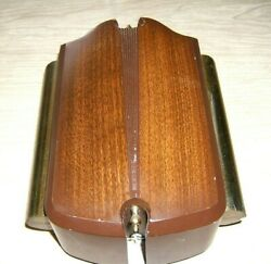 Vintage Mid Century Nutone Two Note Bell Chime Wood Grain Metal And Brass