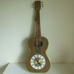 Full Size 1960s Guitar Wall Clock Sessions United 35 Long Made In Usa