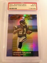 2001 Bowmanand039s Best Refractor Serial1413/1499🔥ladainian Tomlinson 124🏈psa 9