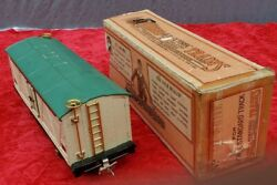 1930's Lionel 514r Ivory And Peacock Refrigerator Car With Brass Trimmed Ob