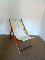 Vintage Wooden Folding Beach Chairs Folding Lounge Chair Outdoor Chair Patio