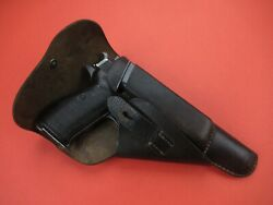 Rare Soft Shell Gxy 1943 Wwii German Holster Mauser Walther P38 P 38 Luger