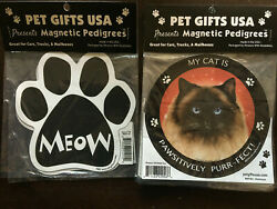 Lot Of Cat Magnets For Autos, Refrigerators, And More