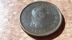 Old British Large Cent From 1806 In Extra Fine Condition This One Is A Beauty
