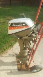 1974 Johnson 6hp Seahorse Outboard Motor, 24 Inch Shaft , For Parts