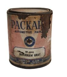 1940's Packard Automotive Mackinaw Gray Paint 1 Quart Unopened Adv Can