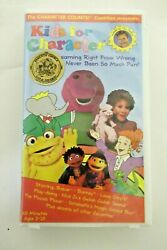 KIDS FOR CHARACTER VHS TOM SELLECK CHARACTER COUNTS COALITION Barney etc. $25.98