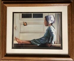 Nancy Noel Happiness Is Like A Butterfly Print Matted And Framed Artist Seal