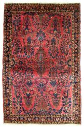Handmade Antique Oriental Rug 3.7and039 X 5.4and039 112cm X 164cm 1920s - 1b748