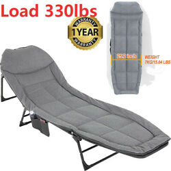 Adults Reclining Folding Chaise Cot Patio Folding Lounge Chair For Sun Tanning
