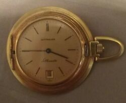 Wittnauer Silhouette Pocket Watch With Gold Filled Fob