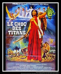 Clash Of The Titans 4x6 Ft Vintage French Grande Movie Poster Original 1981