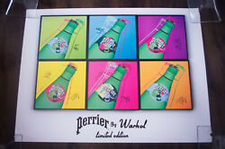 Perrier By Warhol Limited Edition 24 X 32 Original Vintage Advertising Poster