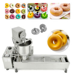 Commercial Automatic Donut Maker Machinewide Oil Making Tankfree 3 Sets Mold