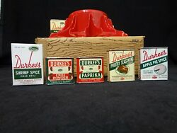 10 Vintage Durkee Spices With Spicemaster Spice Rack New Old Stock Apple Pie Tin