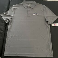 TX3 Cool Seattle Seahawks NFL Polo Mens XL Short Sleeve Gray Collared Shirt. New $24.99