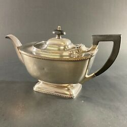Vintage Art Deco Hecworth Reproduction Old Sheffield Teapot Silver Plate England
