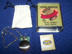 Fossil Pocket Watch, Gas And Oil, Cities Service 1990's