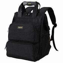 Backpack Electrician Tool Bag Laptop Compartment Black X516a