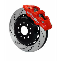 Wilwood For Ford Mustang 2005-2014 Hat Brake Kit Aero6 Front 14.00 Drilled Red