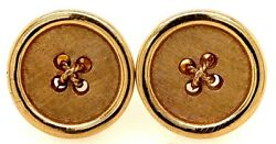 14k Yellow Gold 3/4 Button Cuff Links Heavy 21.67 Grams Tack Sold Separately