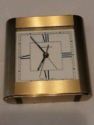 Vintage And Co. Portfolio Brass Table Desk Carriage Clock - Germany