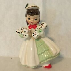 Napco Ax1690f/c Christmas Packages Gifts Shopper Girl 1956 Brunette Nice
