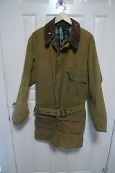 Barbour- A98 Solway Wax Cotton Jacket And Belt- One Crest- Shabby Chic- Rare - 42