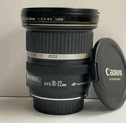 Canon Ef-s 10-22mm F/3.5-4.5 Usm Lens - Immaculate Condition
