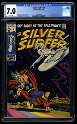 Silver Surfer 4 Cgc Fn/vf 7.0 White Pages Vs Thor