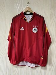 Germany 2004 2005 Away Football Shirt Soccer Jersey L/s Player Issue Adidas Sz M