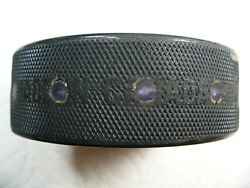 Nhl '96 Stanley Cup Playoffs Fox Trax Rare Game Used Hockey Puck Collect Pucks