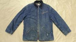Hercules Auth 1950and039s Vintage Zip Up Coverall Work Jacket Indigo Used From Japan
