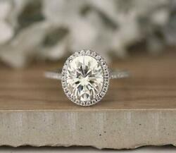 14k Gold Bestseller 3.00ct Oval 10x8 Mm Diamond Engagement Ring Best Collection