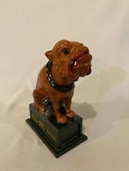 New Working Cast Iron Bulldogmechanical Coin Bank Vintage Style Toy
