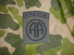 Original Rare {only In Country 22 Months} Nam-made Subdued 82nd Airborne Patch