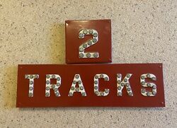 Classic Vintage 2 Track Railroad Crossing Sign