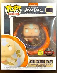 Funko Pop In Hand Aang All Elements Avatar State Glows In Dark Special Edition