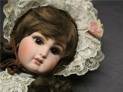 Used Goche Fg Scroll Brown Eye Antique Bisque Doll Overall Length