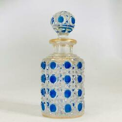 Used Old Baccarat Diaman Pierie Perfume Bottle H12cm Molding Decoration Crystal