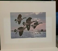 1985 New York First Of State Duck Stamp And Print Artist Signed By Larry Barton