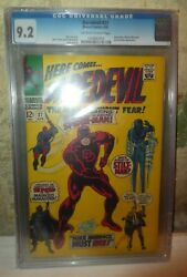 Marvel Comics Daredevil 9.2 Cgc Off White Pages High Grade 27 1967