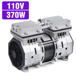 High Flow Vacuum Air Pump Double-cylinder Oil Free Oilless Piston Compressor