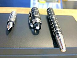 Stylo Plume Metal And Rubber Or 14k Resine Fountain Pen