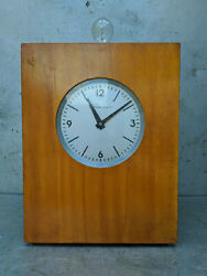 Hanged Wall Primary Clock Light Industrial Factory / Vintage Ussr