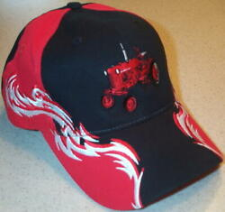 Farmall Cub Red White And Black Embroidered Solid Flame Hat